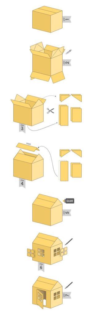 instrucciones casita carton mama extraterrestre