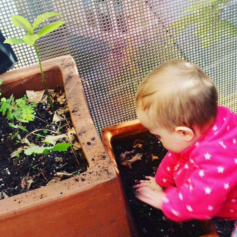 mama extraterrestre actividades entretener bebe en casa arenero en jardineras